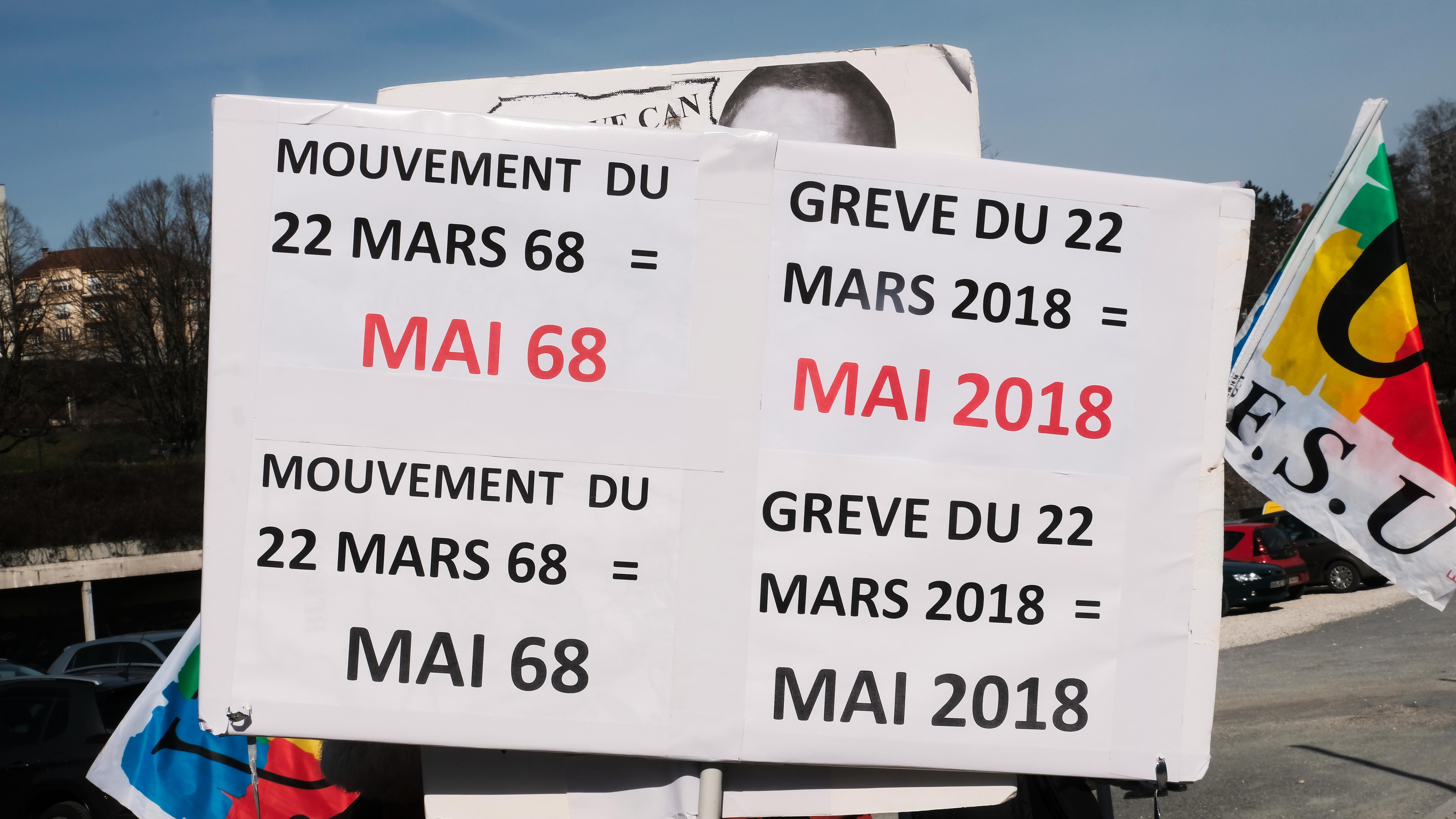 Manifestation le 22 mars 2018 à Besançon